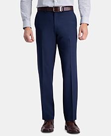 Men's Premium Comfort Classic-Fit 4-Way Stretch Wrinkle-Free Flat-Front Dress Pants