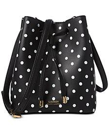 Lauren Ralph Lauren Dryden Debby II Mini Dot Drawstring Bag