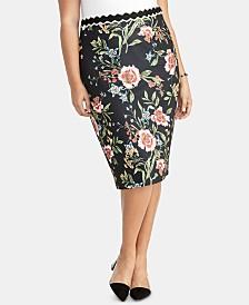 2d7a3ae3922 RACHEL Rachel Roy Trendy Plus Size Gretchen Printed Pencil Skirt