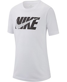 Nike Big Boys Swoosh Logo Cotton T-Shirt