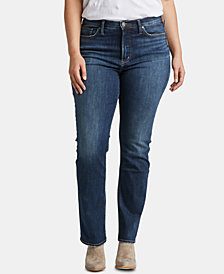 Silver Jeans Co. Plus Size Calley Straight-Leg Jeans