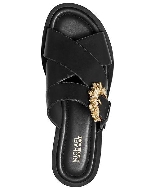 e5fd0c5ac445 Michael Kors Frieda Slide Flat Sandals   Reviews - Sandals   Flip ...