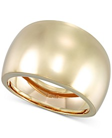 Polished Statement Ring in 14k Gold