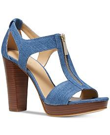 485db678c406 MICHAEL Michael Kors Berkley T-Strap Platform Dress Sandals