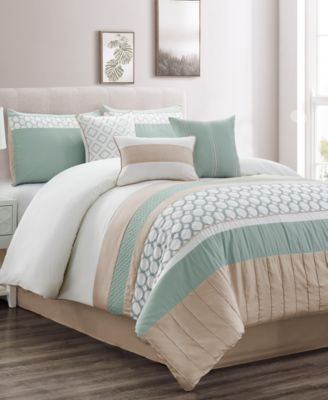 CLOSEOUT! Maverick 7-Pc. Full Comforter Set, Created for Macy's