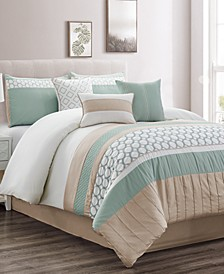 CLOSEOUT! Maverick 7-Pc. Queen Comforter Set, Created for Macy's