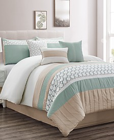 CLOSEOUT! Maverick 7-Pc. California King Comforter Set, Created for Macy's