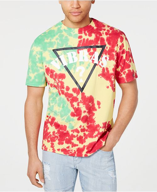 cd6f2eb924fe6 GUESS J Balvin X Men's Tie Dye Logo T-Shirt & Reviews - T-Shirts ...
