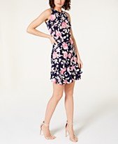 836e84848be Robbie Bee Petite Ruffled Puffed Floral Print Dress
