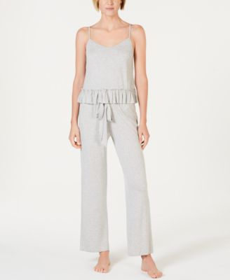 I.N.C. Ultra Soft Knit Ruching Pajama Pants, Created for Macy's