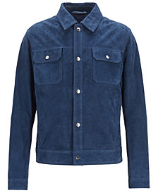 BOSS Men's Regular/Classic Fit Suede Jacket