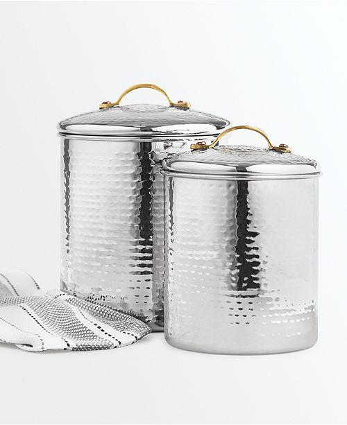 stewart kitchen canisters martha stewart collection hammered stainless steel