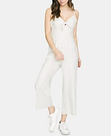 Take Away Linen Bow-Detail Jumpsuit