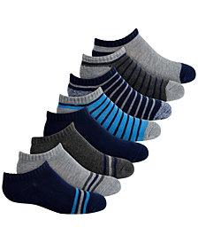 Planet Sox Toddler, Little & Big Boys 8-Pack No-Show Athletic Socks