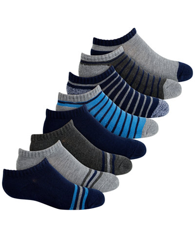 Planet Sox Toddler, Little & Big Boys 8-Pack No-Show Athletic Socks