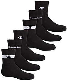 Big Boys 6-Pack Logo Crew Socks