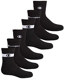 Champion Big Boys 6-Pack Logo Crew Socks