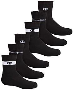 976ca54e3769a Champion Big Boys 6-Pack Logo Crew Socks