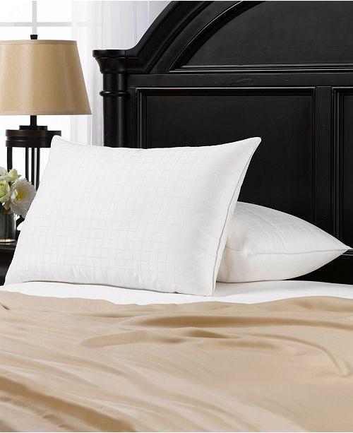 Ella Jayne Soft Gel Filled 100% Cotton Windowpane Shell Stomach Sleeper Pillow - Set of Two - King