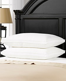 Overstuffed Plush Med/Firm Gel Filled Side/Back Sleeper Pillow - Set of Two - King