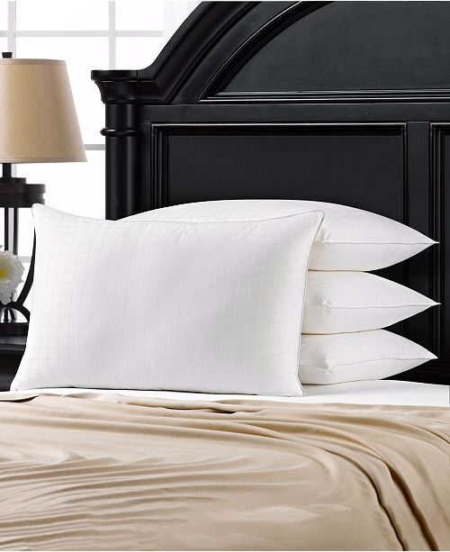 Ella Jayne Overstuffed Gel Filled 100% Cotton Dobby -Box Shell Side/Back Sleeper Pillow - Set of Four - Standard