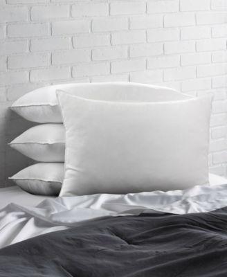 Overstuffed Plush Allergy Resistant Gel Filled Side/Back Sleeper Pillow - Set of Four - Queen