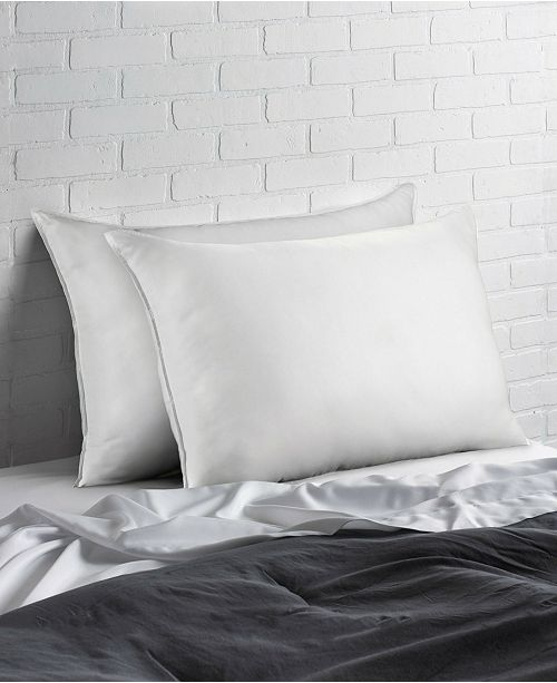 Ella Jayne Cotton Blend Superior Down -Like SOFT Stomach Sleeper Pillow - Set of Two - King