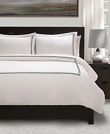 100% Cotton Percale 3 Piece Duvet Sets with Satin Stitching