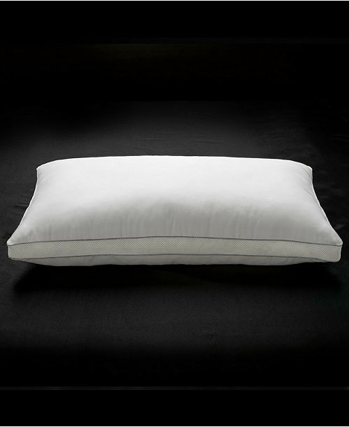 Ella Jayne Memory Fiber Pillow 100% Cotton Luxurious Mesh Gusseted Shell All Sleeper Pillow - King