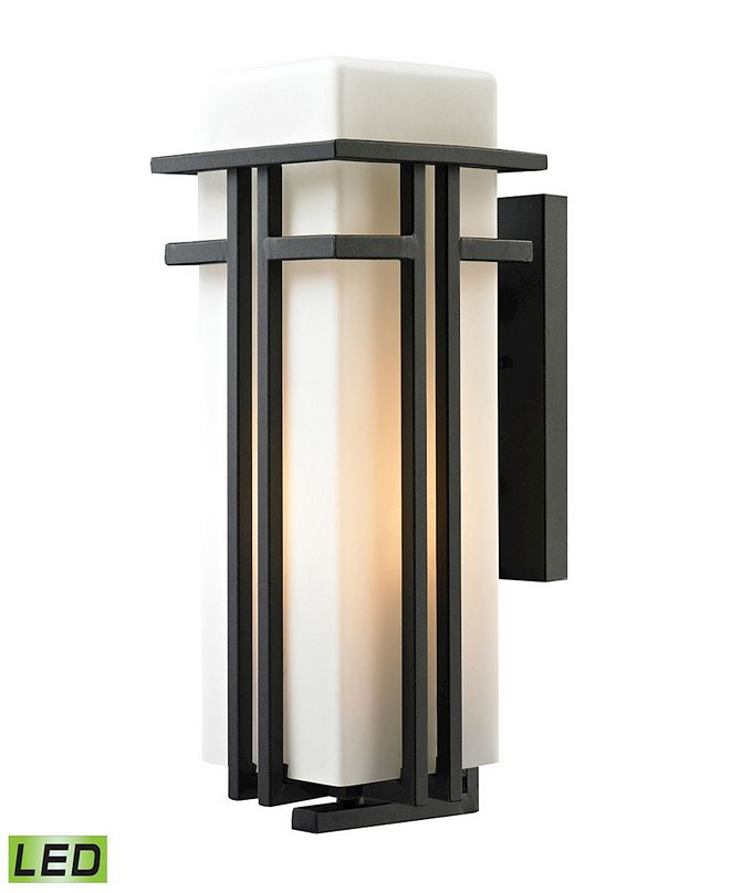 ELK Lighting Croftwell Collection 1 light outdoor sconce in Textured Matte Black - LED Offering Up To 800 Lumens