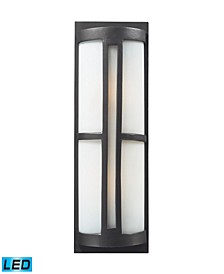 2- Light Outdoor Sconce in Graphite - LED, 800 Lumens (1600 Lumens Total) with Full Scale Dimming Range