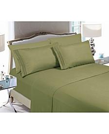 4-Piece Luxury Soft Solid Bed Sheet Set Queen