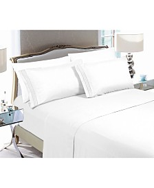 Elegant Comfort 4-Piece Luxury Soft Solid Bed Sheet Set Queen