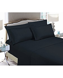 5-Piece Luxury Soft Solid Bed Sheet Set Split King