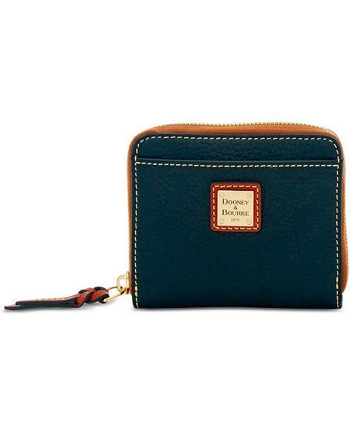 Dooney & Bourke Pebble Leather Zip Wallet