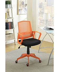 Benzara Office Chair with Adjustable Height