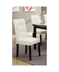 Benzara Modern Design Poplar Wood Dining Chair, Set of 2