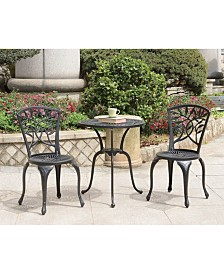 Benzara Transitional Style Table Set of 1 Table And 2 Chairs with Cabriole Legs