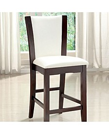 Contemporary Style Manhattan Counter Height Chair, Set of 2