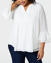 e493295dd33 Plus Size Tops - Womens Plus Size Blouses   Shirts - Macy s