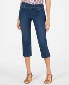 Style & Co Petite Avery Pull-On Capri Jeans, Created for Macy's