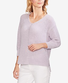 Vince Camuto 3/4-Sleeve High-Low Sweater