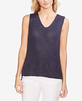 e74ad6a694943a Vince Camuto Speckled Shiny Sleeveless Knit Top