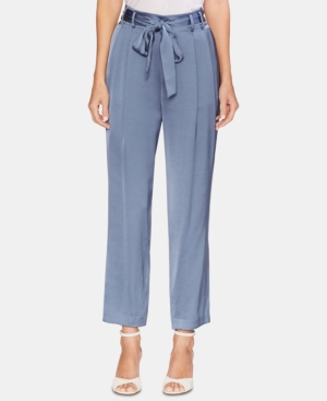 Vince Camuto Pants SOFT SATIN PAPERBAG-WAIST PANTS