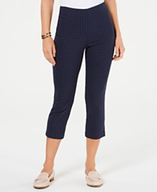 Charter Club Petite Tummy-Control Capri Pants, Created for Macy's