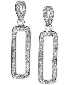 EFFY® Diamond Diamond Drop Earrings (3/8 ct. t.w.) in 14k White Gold
