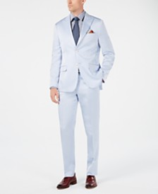Tallia Orange Men's Slim-Fit Light Blue Sateen Suit