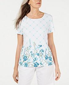 Trellis-Print T-Shirt, Created for Macy's