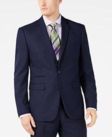 Vince Camuto Men's Slim-Fit Stretch Navy Pindot Suit Jacket