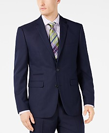 Vince Camuto Men's Slim-Fit Stretch Navy Pindot Suit Jacket